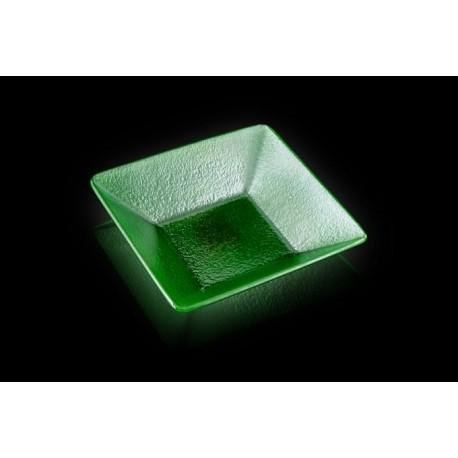 Bowl cuadrado Axum Bohemia Vesuv verde 16x16