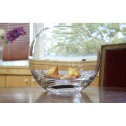 Florero pecera cristal de Bohemia 17.5 cm