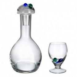 Juego de vino 7 piezas Triana Bohemia