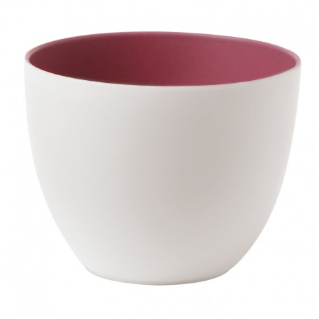 Portavelas porcelana Plum Sambonet