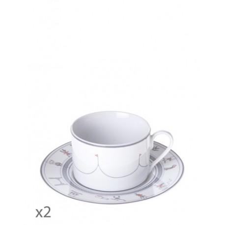 Juego de 2 tazas de té Cirque Toujours-Cristal de Sèvres