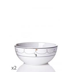 Juego 2 bowls Cirque Tourjous-Cristal de Sèvres