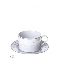 Juego de 2 tazas de desayuno Cirque Toujours-Cristal de Sèvres