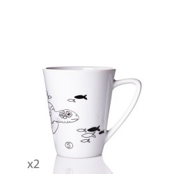 Juego de 2 tazas mug Animaux Toujours-Cristal de Sèvres