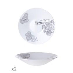 Juego de 2 platos hondos Animaux Toujours-Cristal de Sèvres