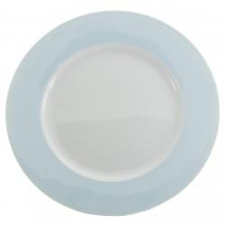 Bajo plato azul claro