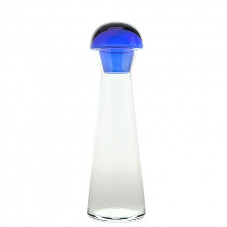 Botella con tapón azul Bohemia