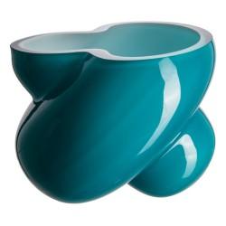 Florero 18 cm triplex aquamarina