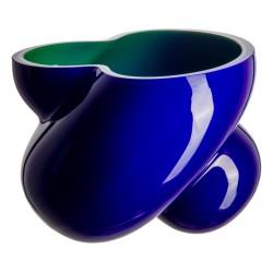 Florero Energy Azul / Verde Cristal de Bohemia