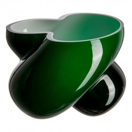 Florero Energy Verde Cristal de Bohemia
