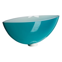 Bowl Energy aguamarina Cristal de Bohemia