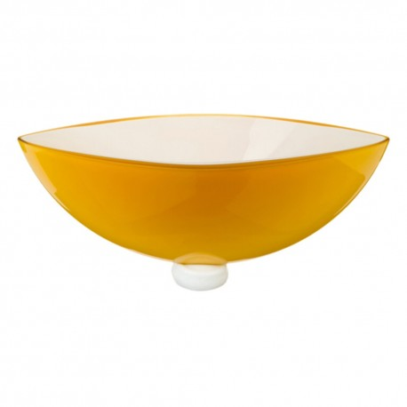 Bowl Energy ambar Cristal de Bohemia