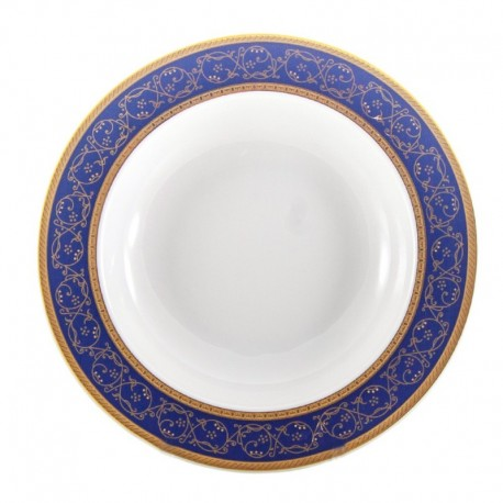 Plato hondo Saphyr azul Thun Bohemia