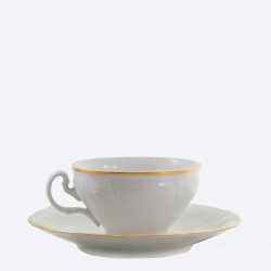 Taza y plato de té Bernadotte Oro Thun