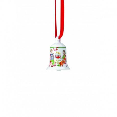 Colgante campanilla navidad miniglocke Advent Hutschenreuther