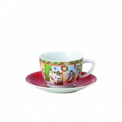 Taza de café con plato Sammelkollektion roja Hutschenreuther