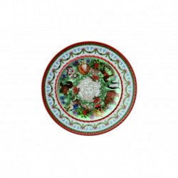Plato de pan navidad Merry Christmas Versace