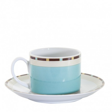 Taza de café y plato marine Cristal de Sevres
