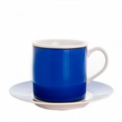 Taza y plato de café Cairo Azul Thun Bohemia