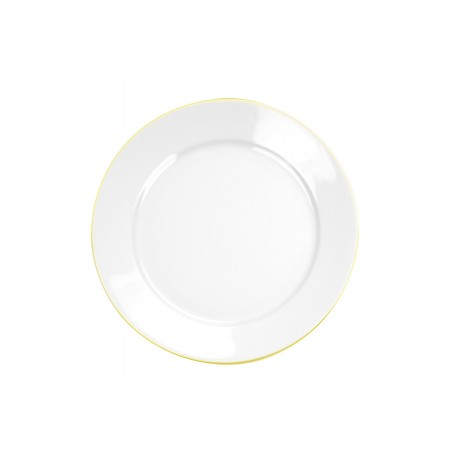 Bajo plato con filo de oro