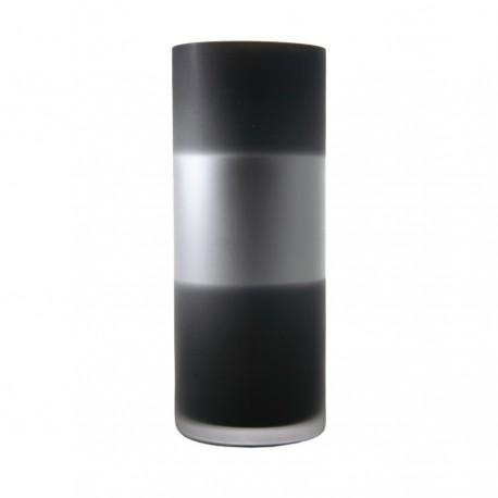 Florero de tubo RIM negro/plata