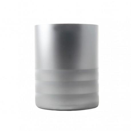 Florero de tubo RIM blanco/plata