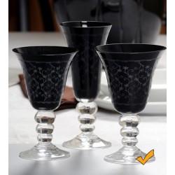 Seis copas de agua JESSICA en negro