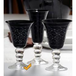 Seis copas de vino JESSICA en negro