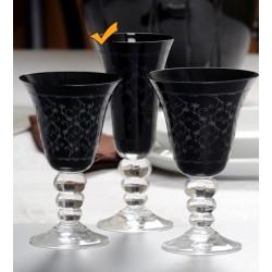 Seis copas de flauta JESSICA en negro