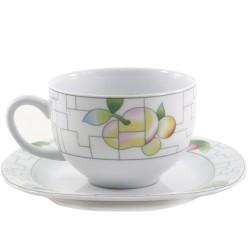 Taza de cafe con plato León Puzzle