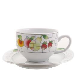 Taza de cafe alta y plato León Puzzle