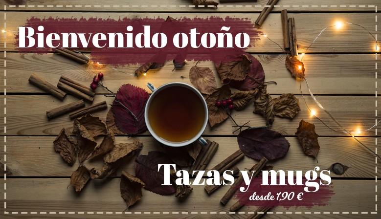 tazas y mug otoño